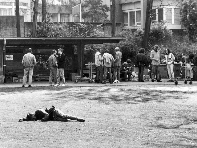 Im Berner Kocherpark traf sich bis zum 31. März 1992 die Drogenszene.