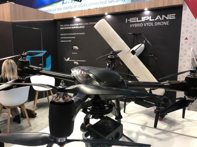 Ausgestellte Drohne
