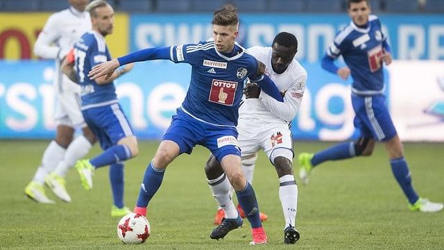 Cedric Itten am Ball für Luzern