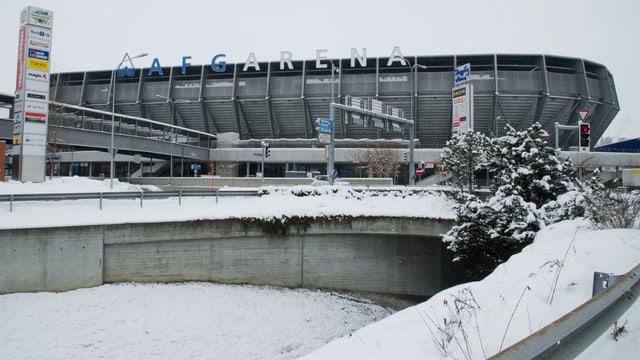 Schnee statt Fussball. Winterliche Verhältnisse in St. Gallen