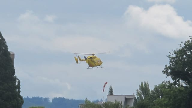 TCS-Helikopter in der Luft