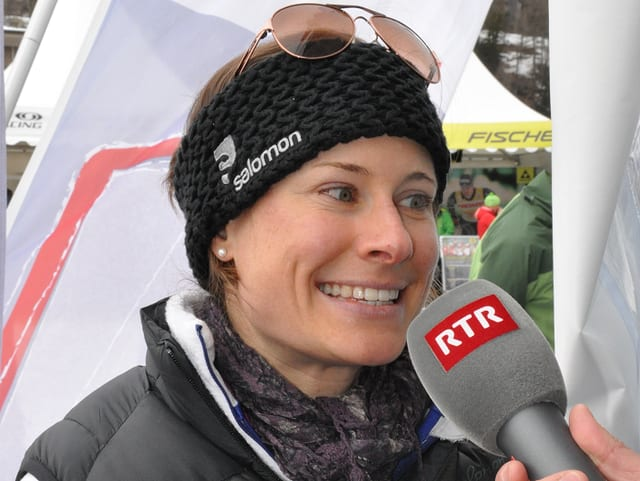 Seraina Boner tar ina intervista.
