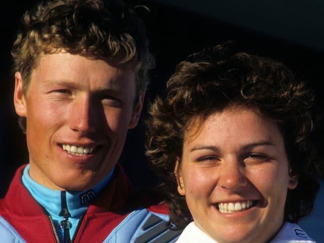 Pirmin Zurbriggen und Michela Figini.