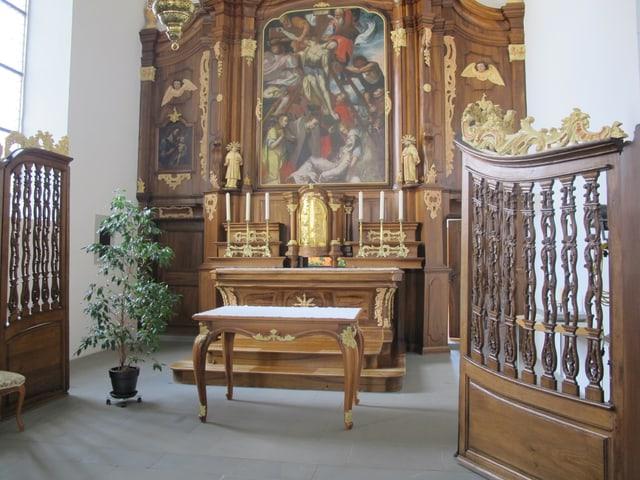 Altar in der Kapelle des St. Josefsheims Bremgarten.
