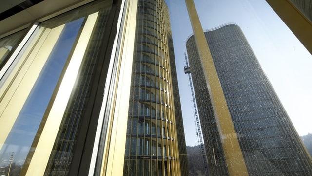 Bild der beiden Hochhäuser auf der Allmend.
