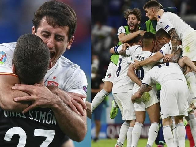 Spanien und Italien
