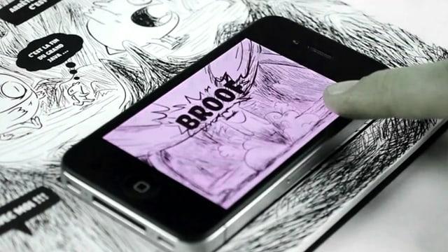 In «Monde binaire» von Julien und Baptiste Milési erweckt das Handy-Display das herkömmliche Comic-Buch zum Leben.