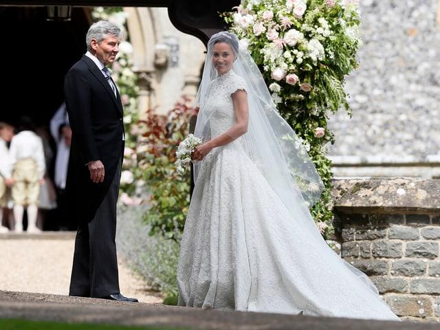 Pippa Middleton mit ihrem Vater Michael