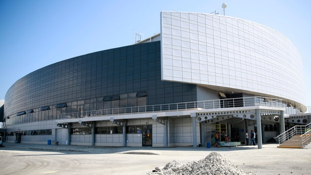 Das Ice Cube Curling Center hat Platz für 3000 Zuschauer.