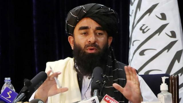 Taliban-Sprecher Sabiullah Mudschahid.