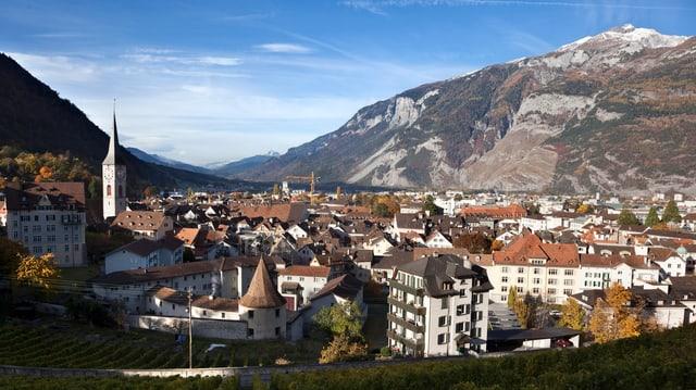 Blick auf Stadt Chur