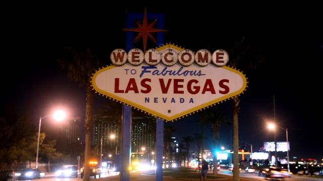 Stadtschild von Las Vegas.