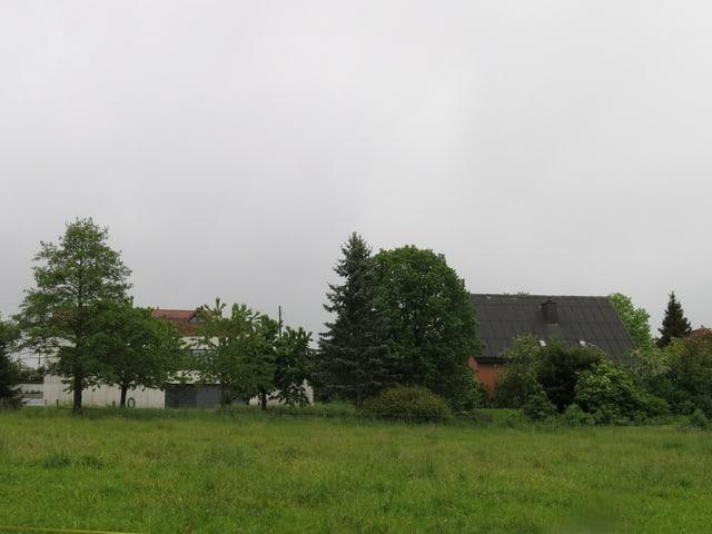 Blick auf zwei Häuser in Seltisberg. Eines davon gehört der Familie Jacobi-Duss