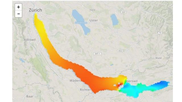 Wassertemperaturen Zürichsee.