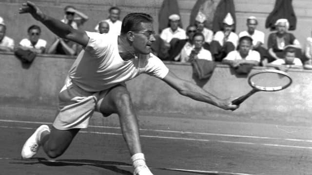 Jaroslav Drobny gewann 1954 für Ägytpen in Wimbledon.