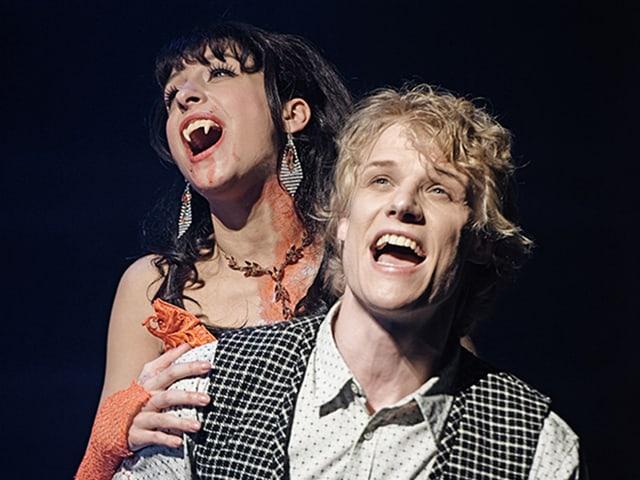 Alfred und Sara als Vampir