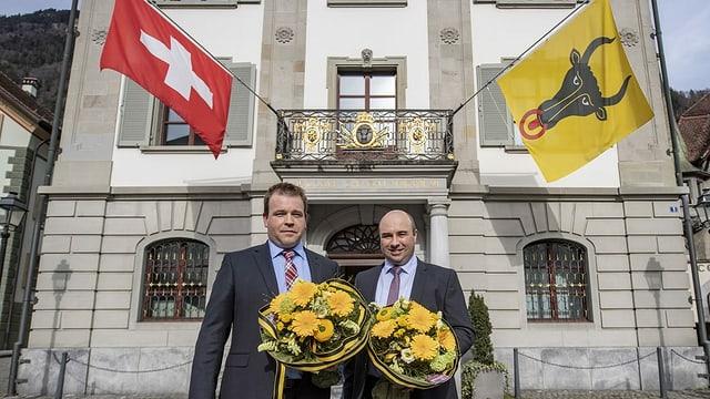 Nov en la regenza dal chantun Uri: Christian Arnold da la PPS (sanester) e Daniel Furrer da la PCD.