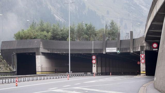 Entrada dal tunnel dal Gottard