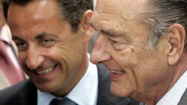 Sarkozy und Chirac.