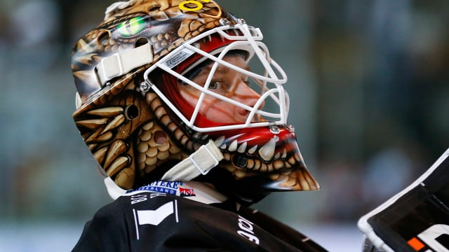 Eishockey-Torhüter.