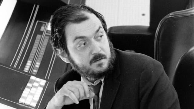Stanley Kubrick auf dem Set.