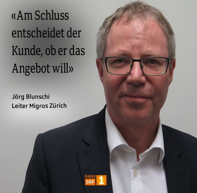 Jörg Blunschi, Leiter Migros Zürich