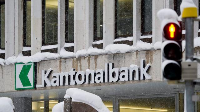 Fassade einer Filiale der St. Galler Kantonalbank