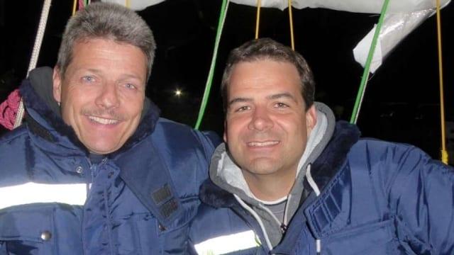 Kurt Frieden und sein Teampartner Pascal Witprächtiger