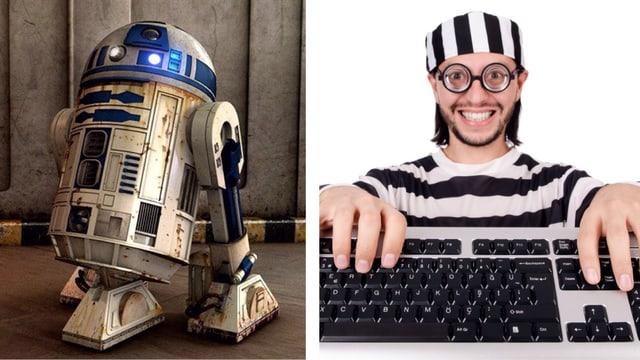 Collage: R7D2 und IT-Nerd