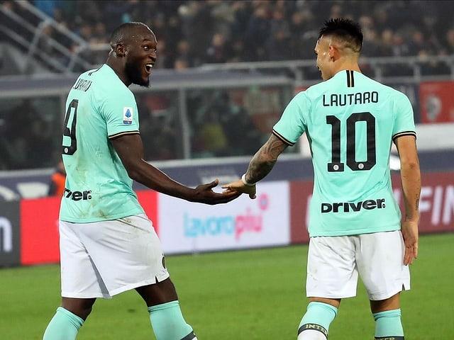 Inters Sturm-Duo Romelu Lukaku und Lautaro Martinez.