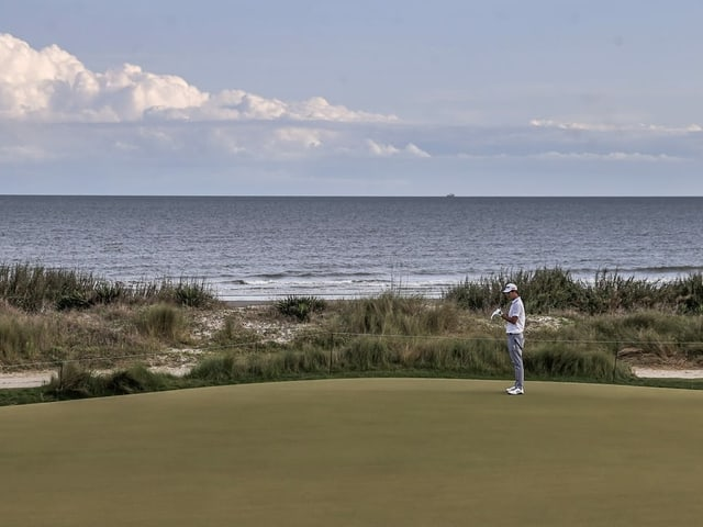 Der Ocean Course auf Kiawah Island im US-Bundesstaat South Carolina.
