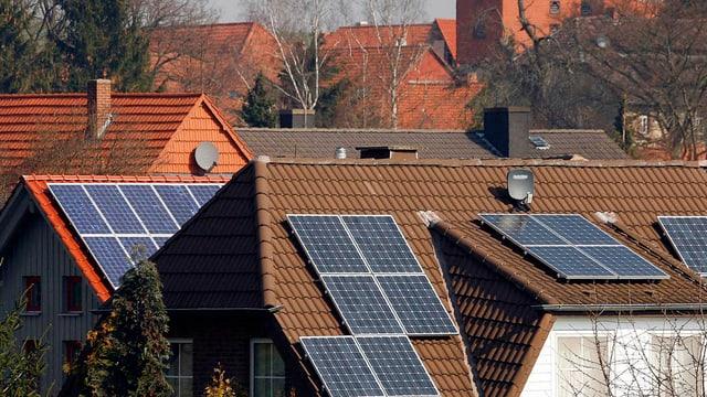 Solaranlagen auf Hausdächer.