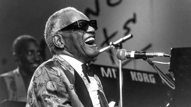 Ray Charles in Aktion.