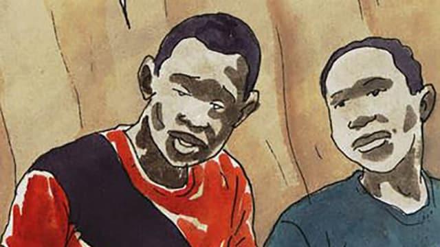 Comiczeichnung zweier Jungen
