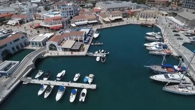 Übersicht Hafen in Zypern.