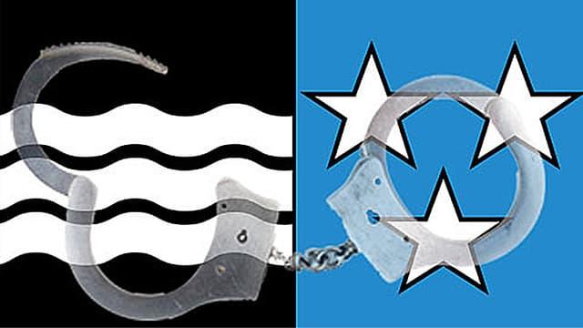 Kantonswappen mit Handschellen