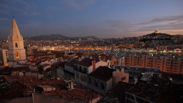 Blick auf den «Vieux Port» von Marseille.