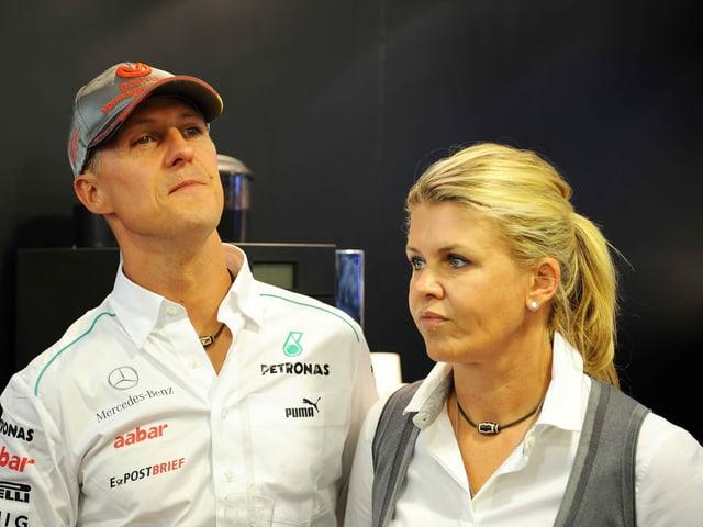 Michael Schumacher und Ehefrau Corinna im Jahr 2012.