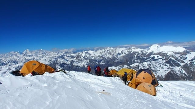 Expedition am Himlung Himal.