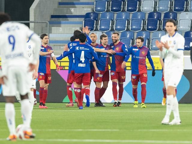 FC Basel beim Jubel