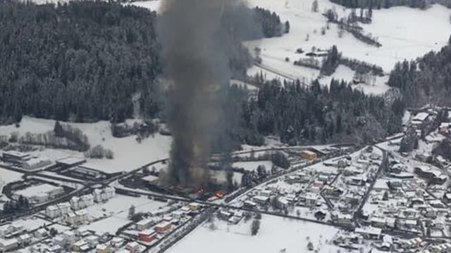 Incendi da la Landi a Tusaun il december 2017.