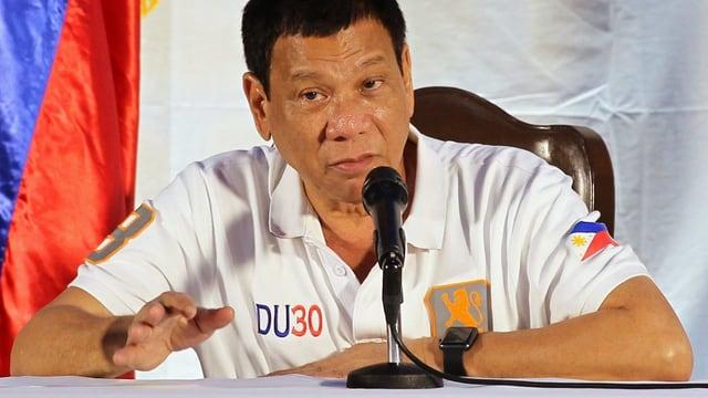 Rodrigo Duterte während seiner Ansprache in Davao.