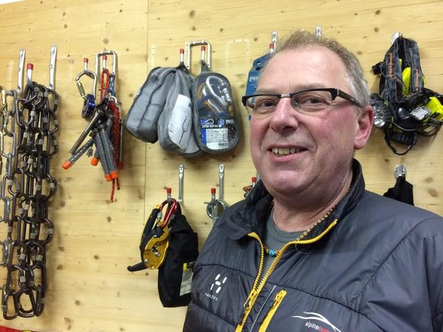 Seit 2010 ist Hans von Rotz Chef der Alpinen Rettung Engelberg. Schon seit Vater bekleidete diesen Titel.