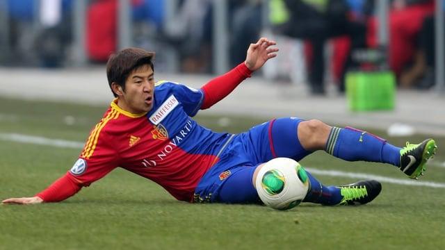 Joo Hun Park im vollen Einsatz am Ball