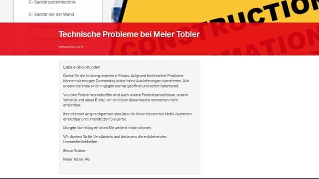 Screenshot Homepage.