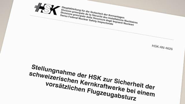 Deckblatt des Berichts des HSK.