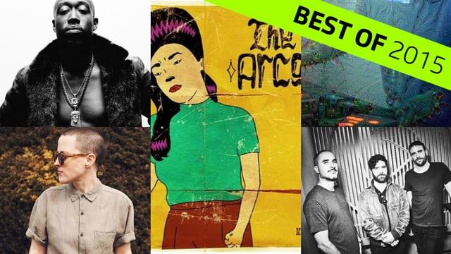 Diverse Künstler, dessen Songs unsere User als die besten des Jahres gekürt haben.
