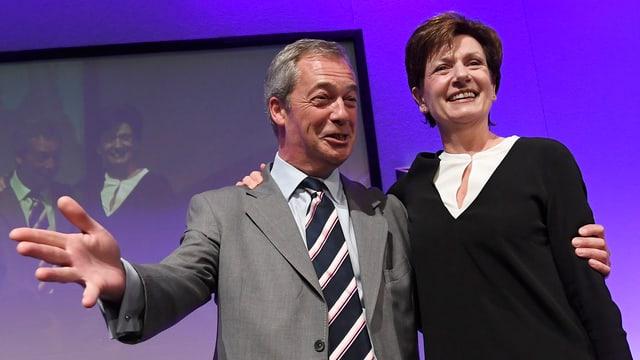 Farage und James