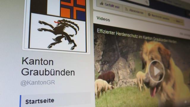 Facebookseit Kanton Graubünden