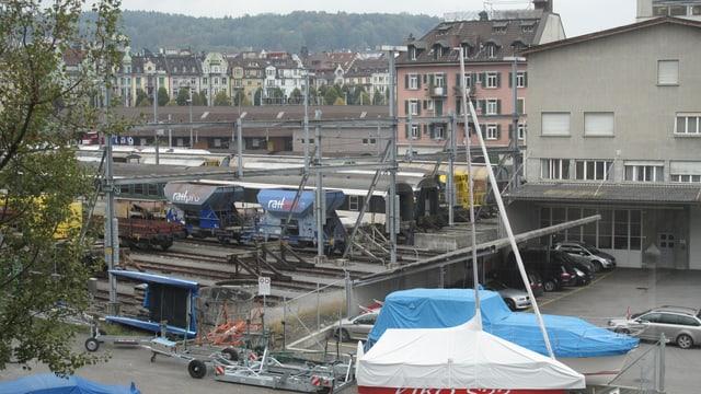 Gewerbegebiet Rösslimatt beim Bahnhof Luzern.